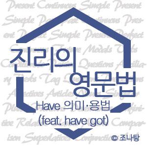[진리의 영문법] have의 의미와 용법 (feat. have got)
